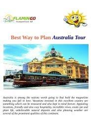 Best Way to Plan Australia Tour
