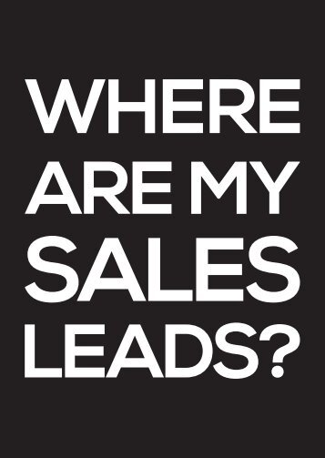 Where Are My Sales Leads_Web