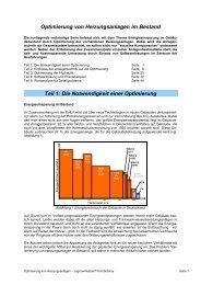 Optimierung von Heizungsanlagen im Bestand