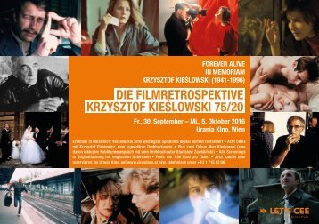 Die Filmretrospektive KRZYSZTOF KIEŚLOWSKI 75/20