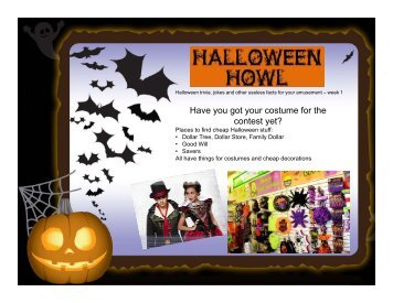 Halloween Howl Week 1