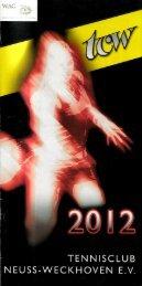 Clubheft des TCW - Ausgabe für 2012