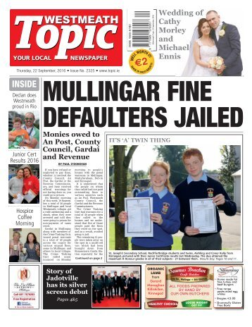 Westmeath Topic - 22 September 2016