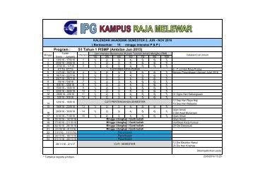 Kalendar Akademik Pelaksanaan Kurikulum Jun 2016_V1