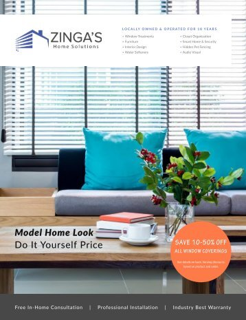 Zinga's Fall 2016 Catalog