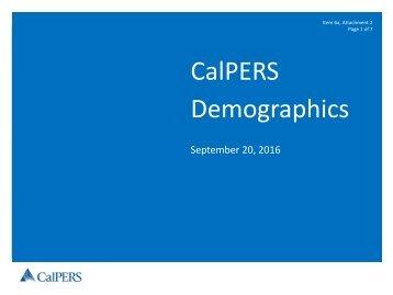 CalPERS Demographics