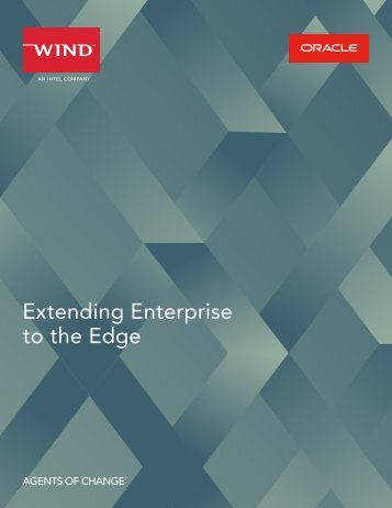 Extending Enterprise to the Edge