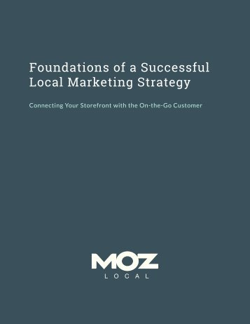 Foundations of a Successful Local Marketing Strategy