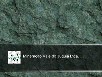 Folder - Mineracao Vale do Juquia Ltda.