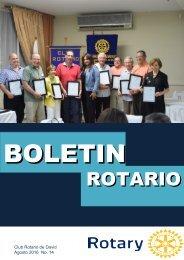 Boletín Rotario Agosto 2016