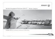 Technische gegevens & prijzen 2012-2 | Knaus campers