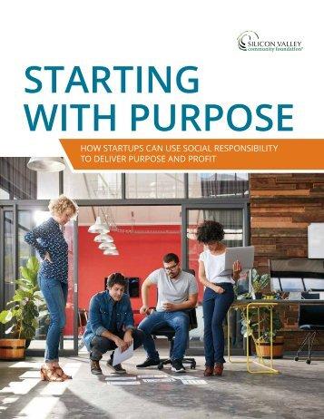 STARTING WITH PURPOSE