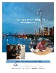 2015 – 2016 BUDGET BOOK