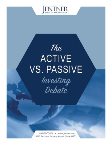 The ACTIVE VS PASSIVE Investing Debate
