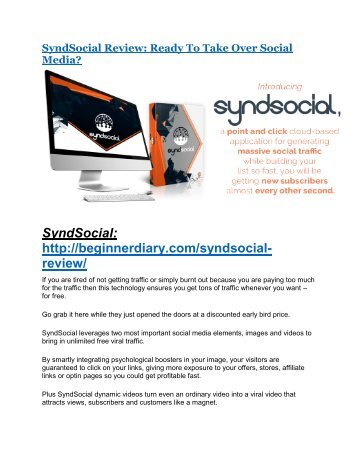 SyndSocial review demo and premium bonus