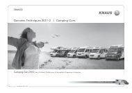 Données Techniques 2011-2 | Camping-Cars - Knaus