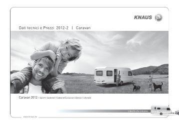 Dati tecnicie Prezzi 2012-2 | Caravan - Knaus