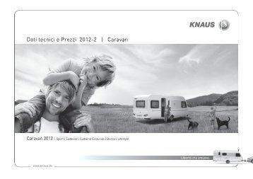 Dati tecnicie Prezzi 2012-2   Caravan - Knaus