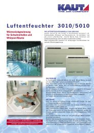 Luftentfeuchter 3010/5010 - Knipping Kälte & Klimatechnik GmbH