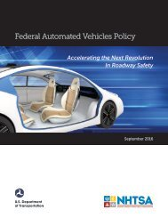 Federal Automated Vehicles Policy