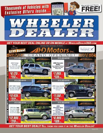 Wheeler Dealer Issue 39, 2016