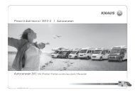 Prezzi e dati tecnici 2012-2 | Autocaravan