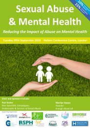Sexual Abuse & Mental Health