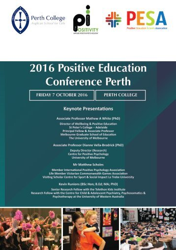 2016 Positive Education Conference Perth