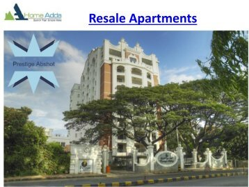 Resale Apartments in Bangalore