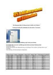 Frischhaltezelle - Knipping Kälte & Klimatechnik GmbH