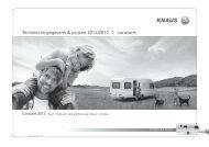 Technische gegevens & prijzen 2011/2012   caravans - Knaus