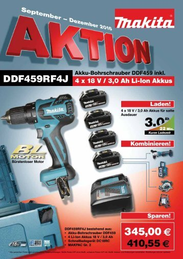 Makita Aktion Sep-Dez 2016