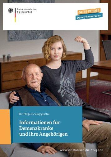 Informationen für Demenzkranke und ihre Angehörigen