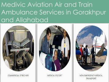 Medivic Aviation  Team With Air and Train Ambulance Services in Gorakhpur and Allahabad