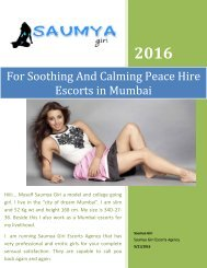 For Soothing And Calming Peace Hire Escorts in Mumbai