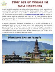 Visit Ulun Danu Bratan Temple in Bali Packages