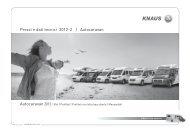 Prezzi e dati tecnici 2012-2 | Autocaravan - Knaus