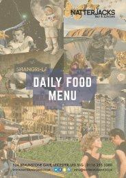 DAILY FOOD MENU