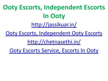 Ooty Escorts, Independent Escorts In Ooty