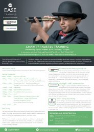 Charity Trustee Training - 12th October 2016