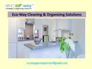 Cleaning Service Montclair NJ| Eco-Way Cleaning & Organizing Solutions