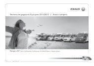 Technische gegevens & prijzen 2011/2012 | Knaus campers