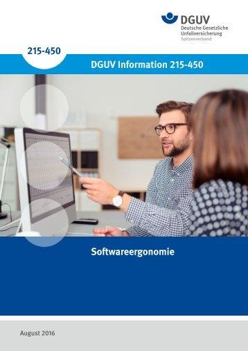 215-450 DGUV Information 215-450 Softwareergonomie