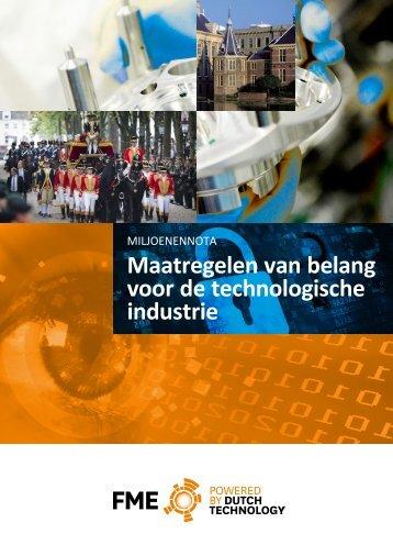 Maatregelen van belang voor de technologische industrie