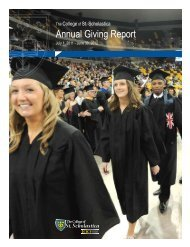 Annual Giving Report - The College of St. Scholastica