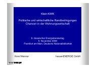 Klein-KWK - HessenEnergie GmbH