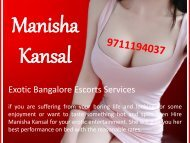 Call @9711194037 for Erotic Bangalore Escorts Services