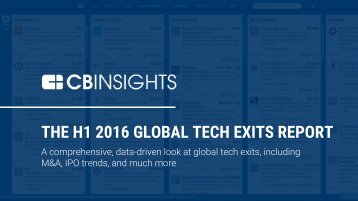 THE H1 2016 GLOBAL TECH EXITS REPORT