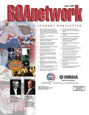BOA Network Student Newsletter - February 2005 - Music for All