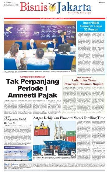Bisnis Jakarta 22 September 2016